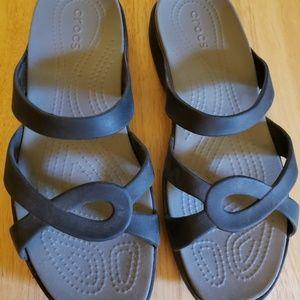 Crocs Women's Meleen Twist Sandal  Black